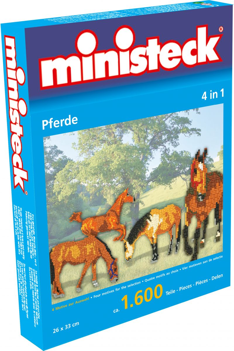 Ministeck MC31325 Ministeck paarden 4 in 1 (1.600-delig)
