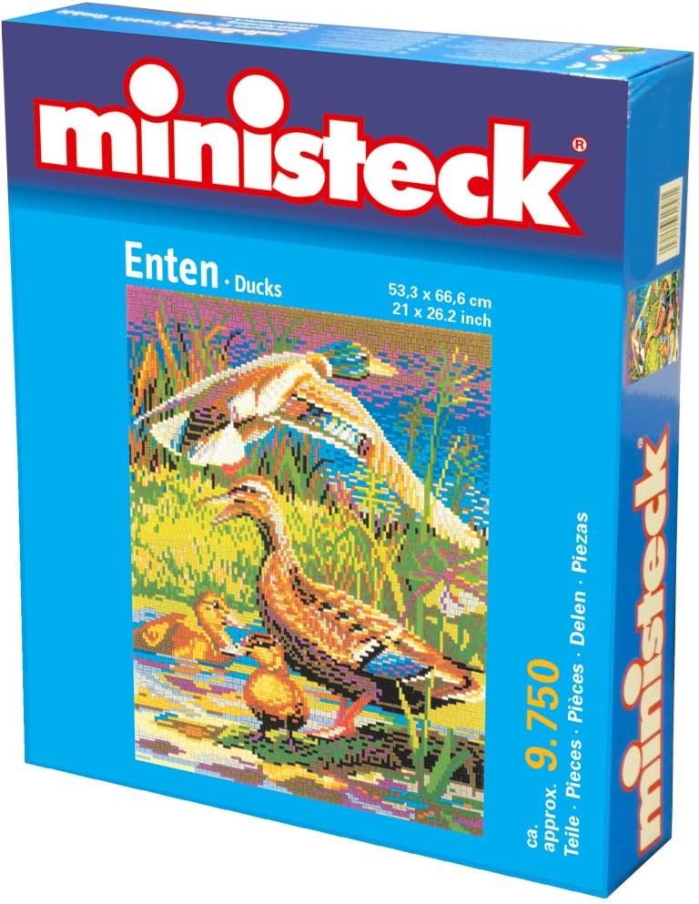 Ministeck Eenden, ca. 9.750 stukjes, 53 x 66 cm