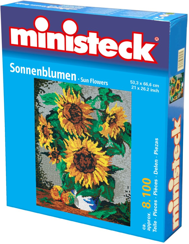 Ministeck Zonnebloemen, ca. 8.100 stukjes, 66 x 33 cm
