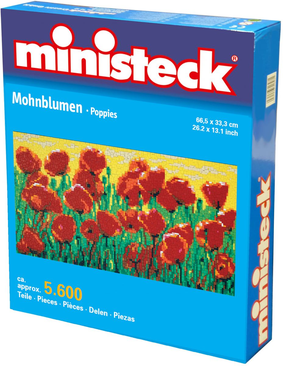 Ministeck papaverveld, ca. 5.600 stukjes, 66 x 33 cm