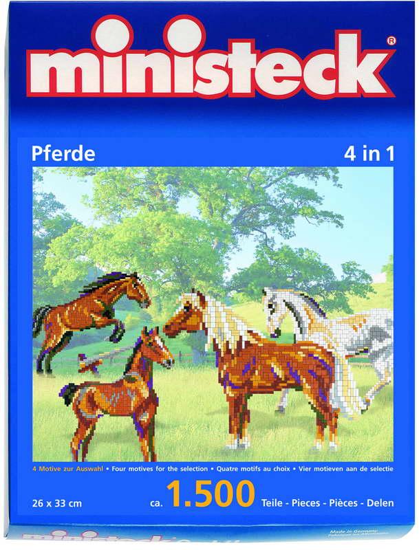 Ministeck paarden 4 in 1, ca. 1.500 steentjes