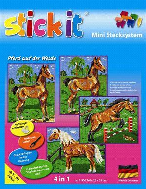 Stick-it Paard in de wei, 4-in-1, ca. 3.100 steentjes
