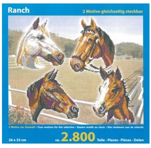Stickit paardenranche, 4 in 1, ca. 2800 delig