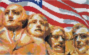 Stick-it Mount Rushmore, 53x33 cm, ca. 4.500 steentjes