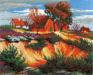 Stick-it Heideland, ca. 9.000 steentjes, verbindingsschijfjes, ophanghaakjes en heveltje