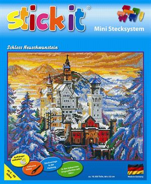 Ministeck MC41209 Stick-it slot Neuschwanstein in de winter