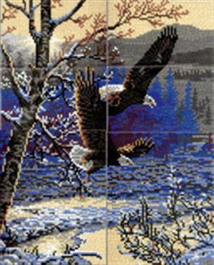 Stick-it Winter vlucht, ca. 10.000 steentjes, verbindingsschijfjes, ophanghaakjes en heveltje (aanbieding)