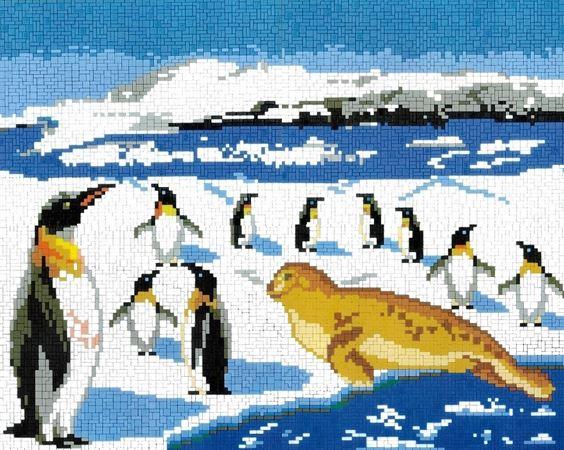 Stickit ministeck-system Dieren van Antartica, ca. 8.000 delig